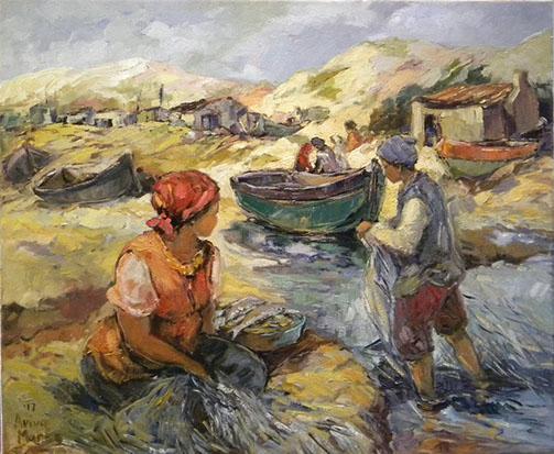 aviva maree, aviva maree art, aviva maree for sale, aviva maree oil, old masters for sale, crouse art gallery, art gallery