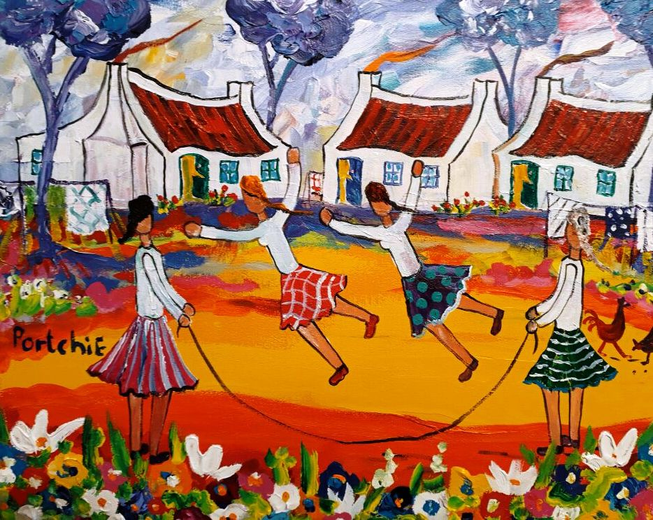 Portchie art, portchie, portchie south african art, portchie oil painting for sale, portchie best price, crouse art gallery, crouse art dealers, south african art gallery