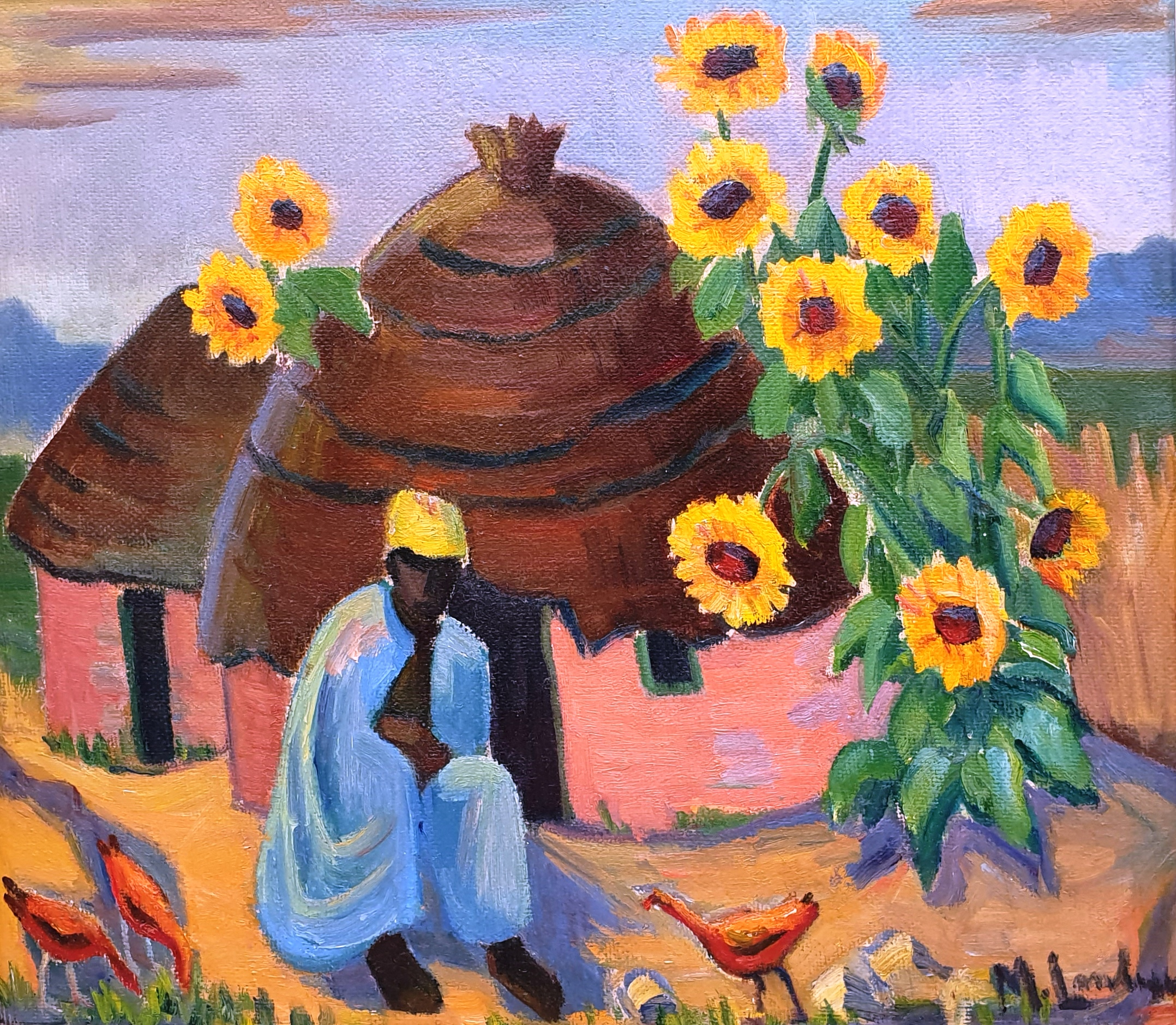 Maggie Laubser, south african art , oil painting, crouse artdealers, Old Master